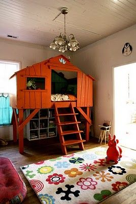 i can't wait to decorate my little one's room like this....when i have a little one! How fun...bringing the outdoors in!