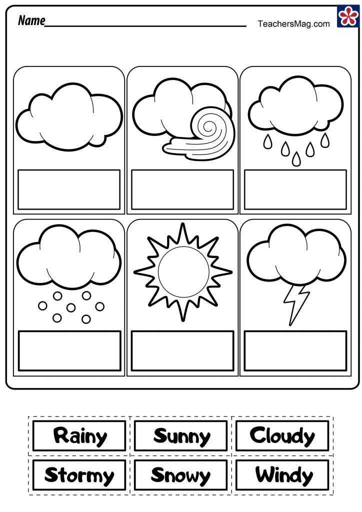 Free Printable Weather Station For Kids. Weather Chart TeachersMag.com  Weather Activities Preschool, Free Kindergarten Printables, Preschool  Weather
