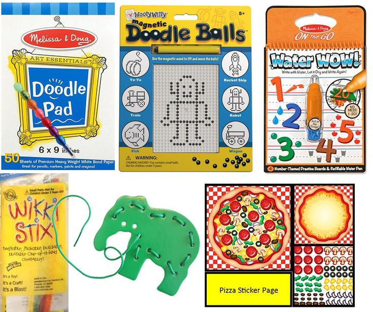 Travel Toy Activity Bundle for Kids - Busy Bag Games