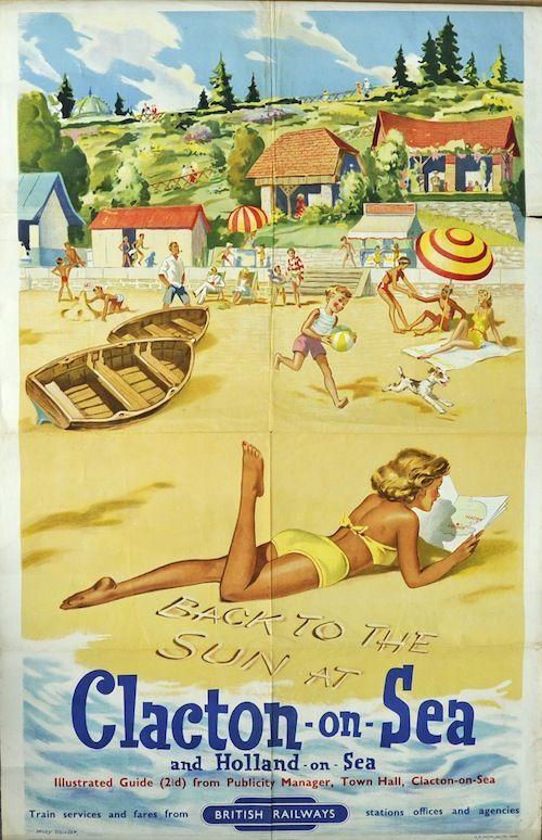 1955 Henry Stringer Clacton on Sea British Railways Poster..16