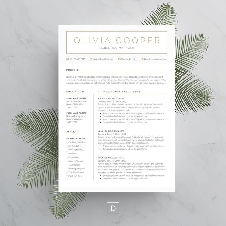 Word Resume & Cover Letter Template by DemeDev on @creativemarket #ideas #inspiration #best #creativemarket #digital #digitalart #design #resume #cv