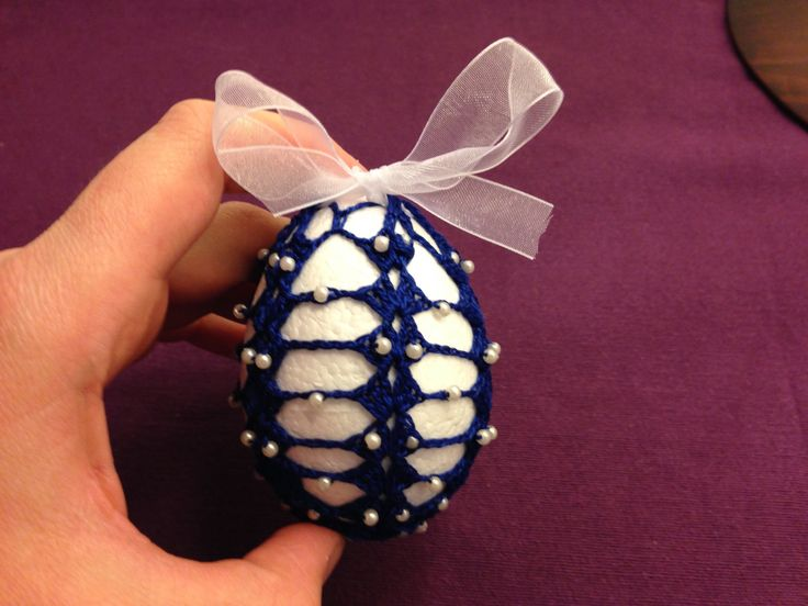 how to crochet easter egg with beads
