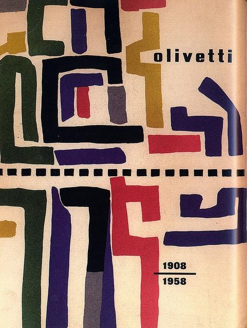 Giovanni Pintori book cover for Olivetti, 1958
