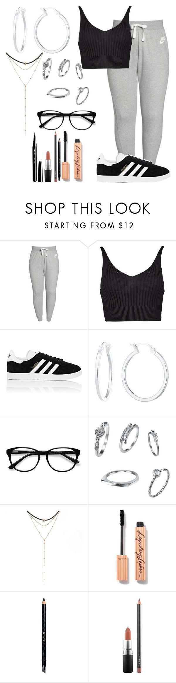 """Untitled #509"" by ines-321 ❤ liked on Polyvore featuring NIKE, Boohoo, adidas, EyeBuyDirect.com, Gucci and MAC Cosmetics"