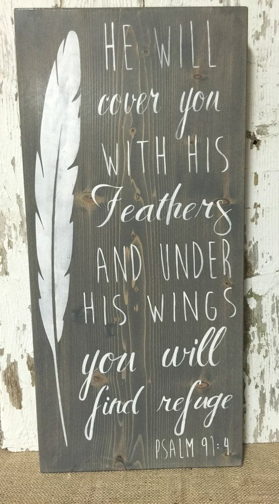 Christian Sign  Christian Wood Sign  Feather by RiOakWesternDesign