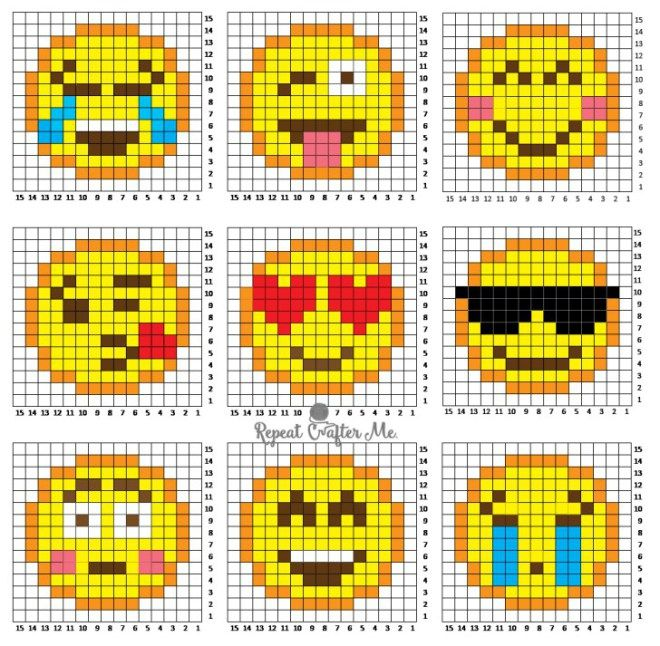 Funny Emoji Crochet C2C for Crochet and Facebook Lovers