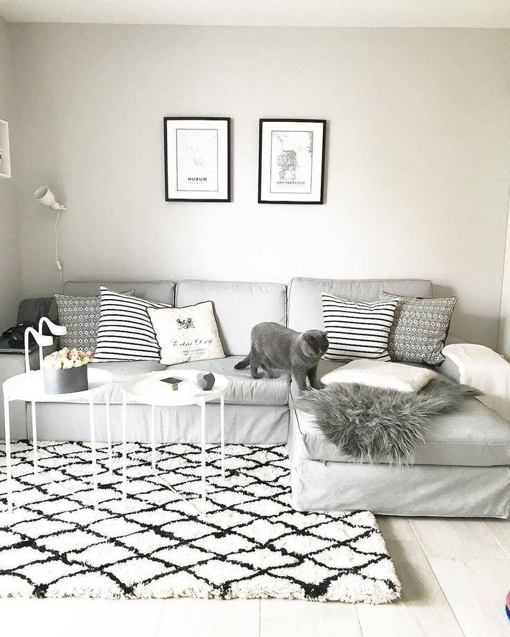 Die besten 25+ weißer Kunstfellteppich Ideen auf Pinterest - teppichboden grau wohnzimmer