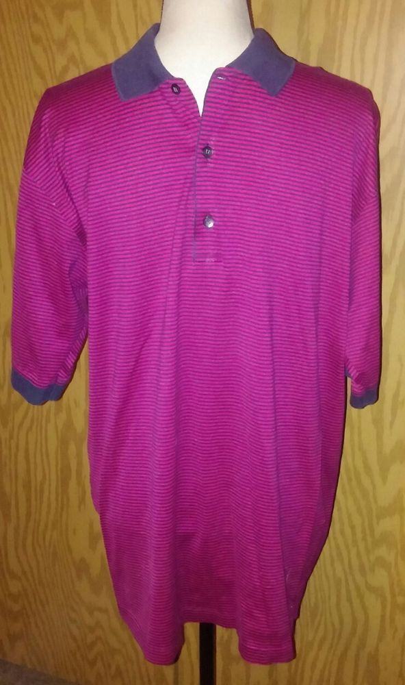 Slazenger Olympic Golf Tournament Polo Shirt BCBS of GA Striped Large Cotton #Slazenger #PoloRugby