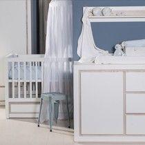 Bebies First babykamer Roby    Wit met bruine/grijze accenten