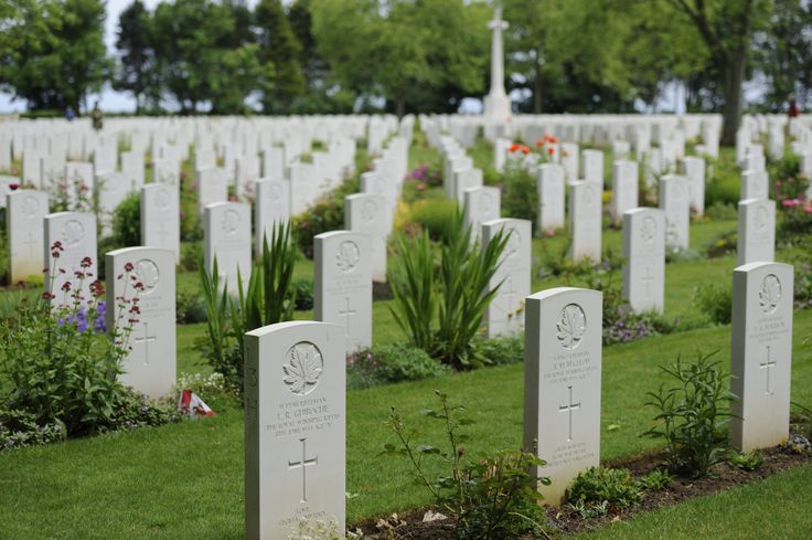 Tombstones of fallen Canadians that fought on the beaches of Normandy at the Canadian War Cemetery in Beny-sur-Mer on June 3, 2014.   Photo: Sgt Bern LeBlanc, Canadian Army Public Affairs