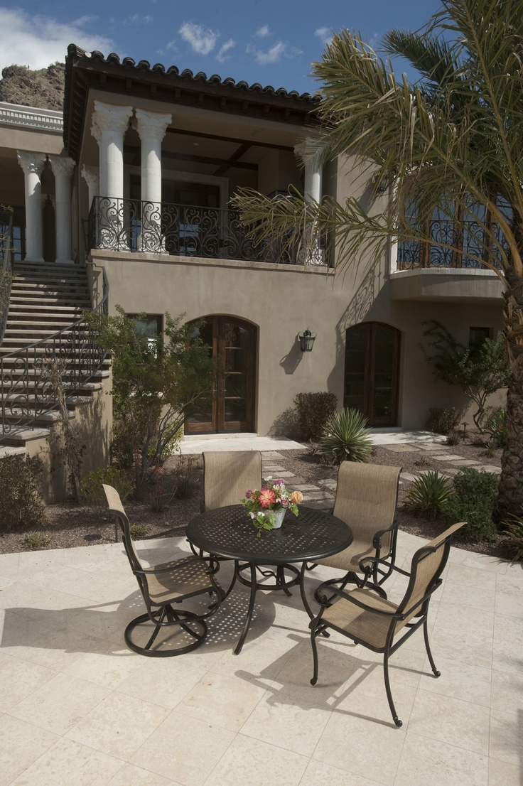 Hanamint   Valbonne Sling Collection. Cast Aluminum Patio Furniture Dining  Set.
