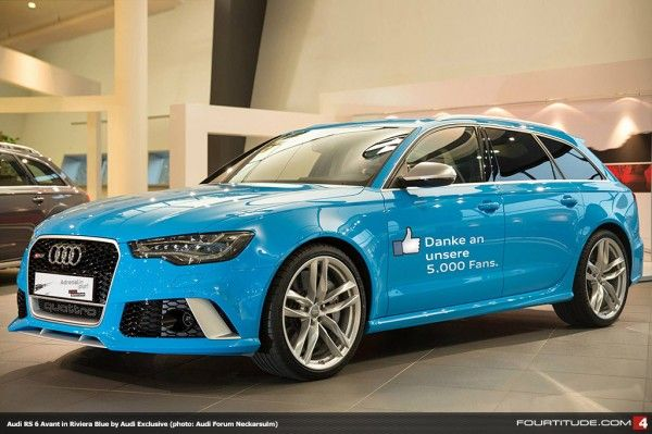 Audi Rs 6 Avant In Riviera Blue Mica By Audi Exclusive