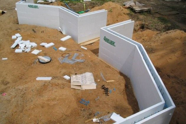 10 images about icf walls on pinterest building for Foam concrete forms cost