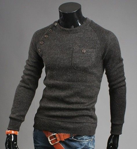 M-3XL Plus size  Men retro cotton cultivation sweater V neck  pullover  sweater for men fashion cashmere sweater US $8.50