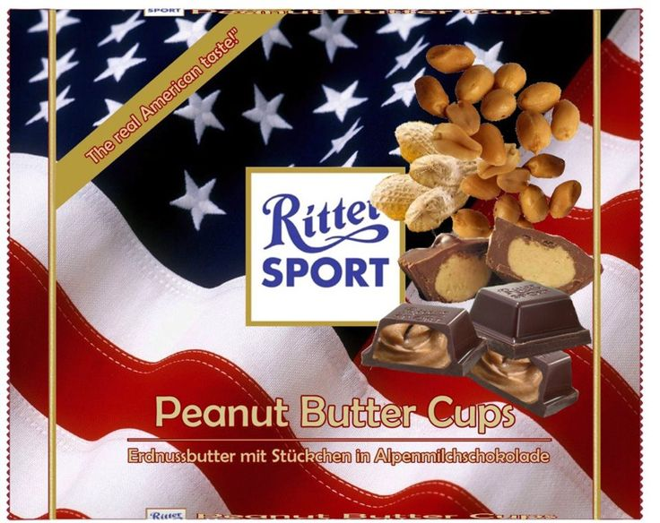 RITTER SPORT Fake Schokolade Peanut Butter Cups (Chocolate Butter Squares)