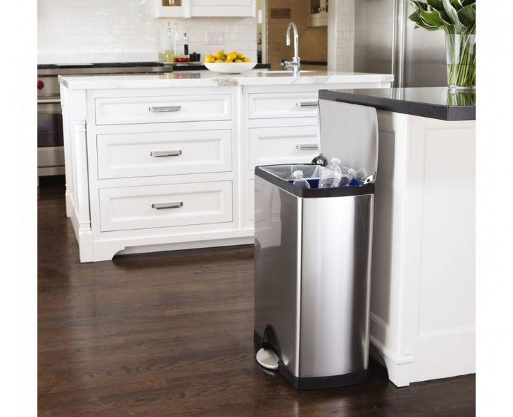 En solid og elegant bøtte med to praktiske innvendige bøtter for resirkulering og avfall. - NKR 2298.00