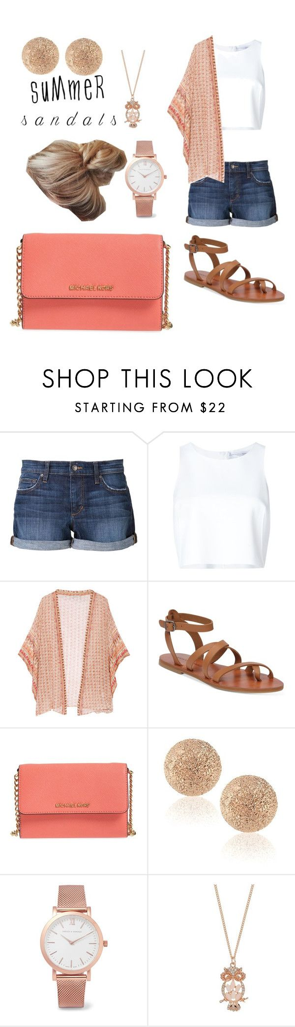 """Shopping Day"" by erinljudd on Polyvore featuring Joe's Jeans, Carolina Herrera, Mes Demoiselles..., Lucky Brand, MICHAEL Michael Kors, Carolina Bucci, Larsson & Jennings, LC Lauren Conrad and summersandals"