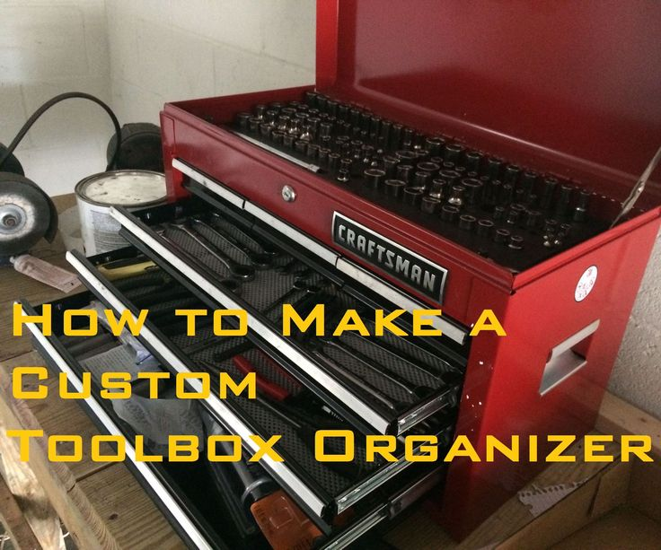 Quick video on how to make a toolbox organizer that will hold all of your sockets! It looks clean and organized. Can be done for around 10 bucks or so too!Feedback Welcome!Follow me on Facebook for more!https://www.facebook.com/UzarskiDesigns