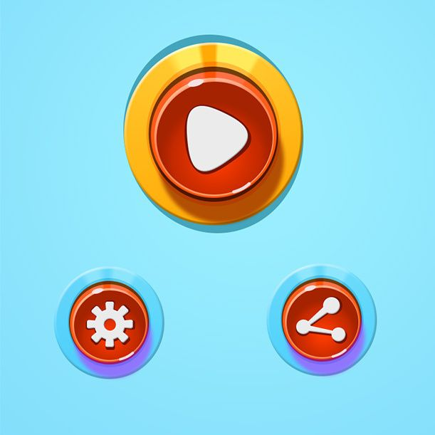 Candy Buttons Play Options Share