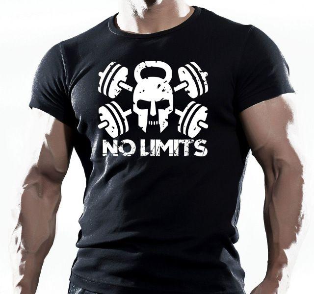 WOD Funzionale Traininger Allenamento Fitness Forza di Stile T-Shirt Nera Crossfit Nuovo Arrivo Maschio Casual Boy T Shirt Sconti
