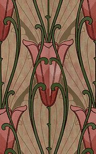 Art Nouveau behang Jugendstil wallpaper