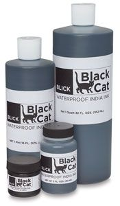 India ink in a big bottle! $4 from dick blick.