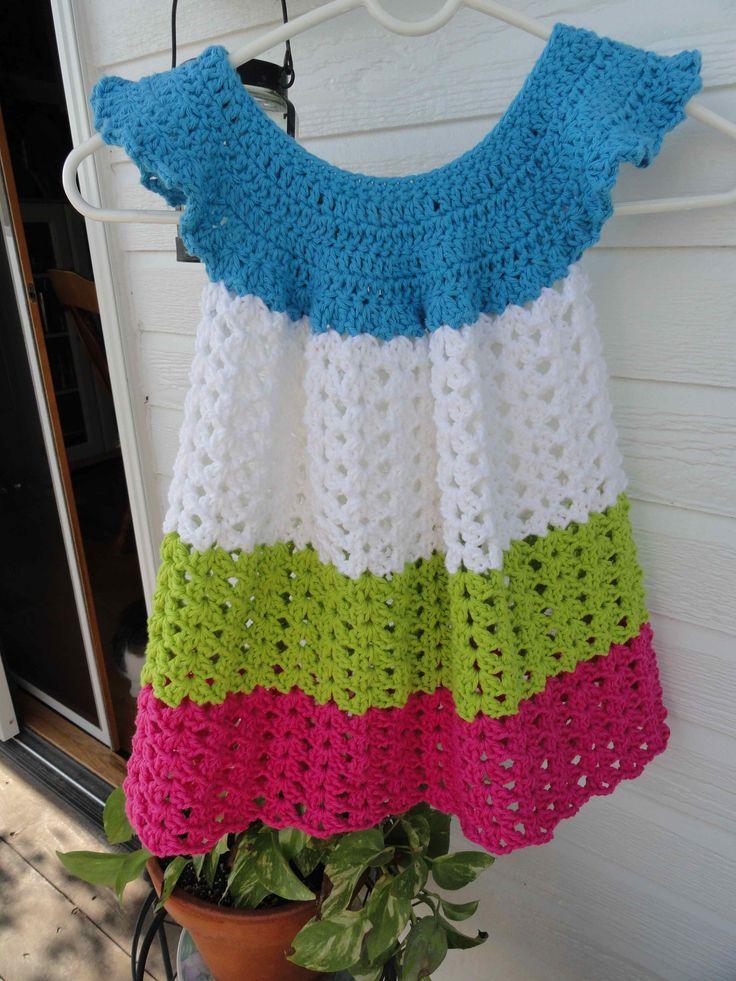 crochet:: toddler pinafore