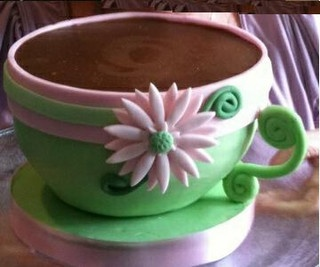 TEA CUP CAKE (2) by Crazy About Cakes, via Flickr