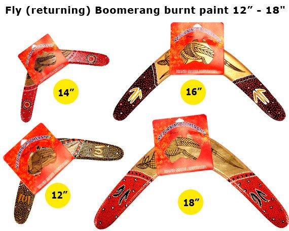 Hand Painted Fly returning Boomerang by AboriginalOzArt on Etsy