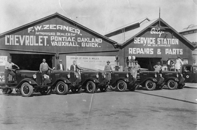F.W. Zerner motor vehicles dealer and repairer