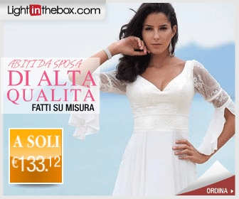 Lightinthebox codice sconto di 14 euro per ordini fatti nelle nelle categorie  Wedding e Home