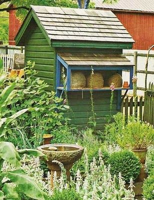bee skep garden shed