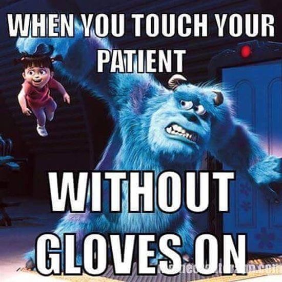 Dentaltown - When you touch your patient without gloves on.