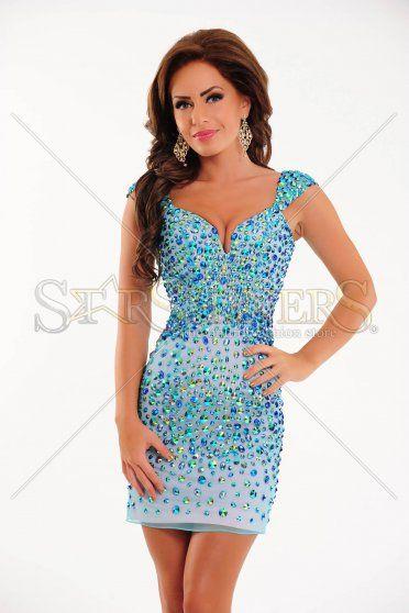 Sherri Hill 2949 Turquoise Dress