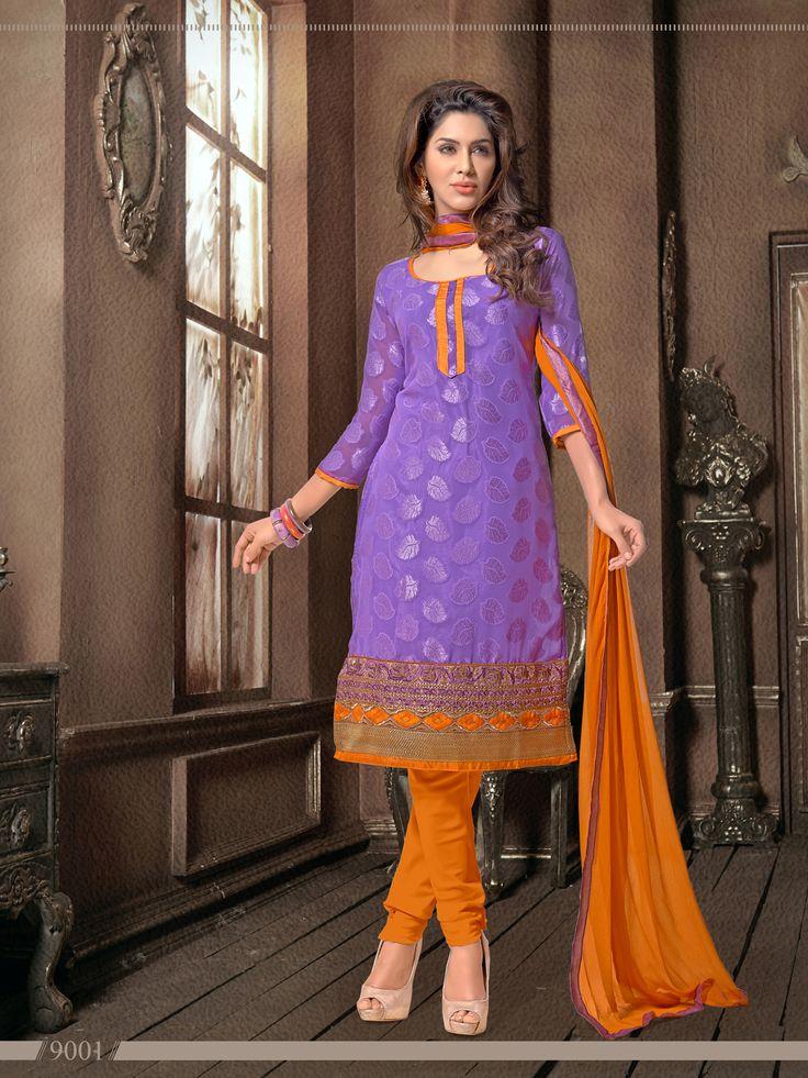 Jaqard Elegant Office Wear  Semi Stitched Salwar Kameez - http://member.bulkmart.in/product/jaqard-elegant-office-wear-semi-stitched-salwar-kameez/