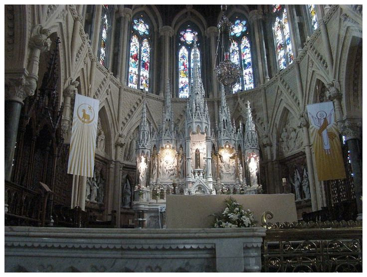 Inside St. Colman's Cathedral where Briana and Hamish are attacked by a Rogue Riffle. It sends them through time to the Titanic, just days before the ship is due to encounter a particular iceberg.