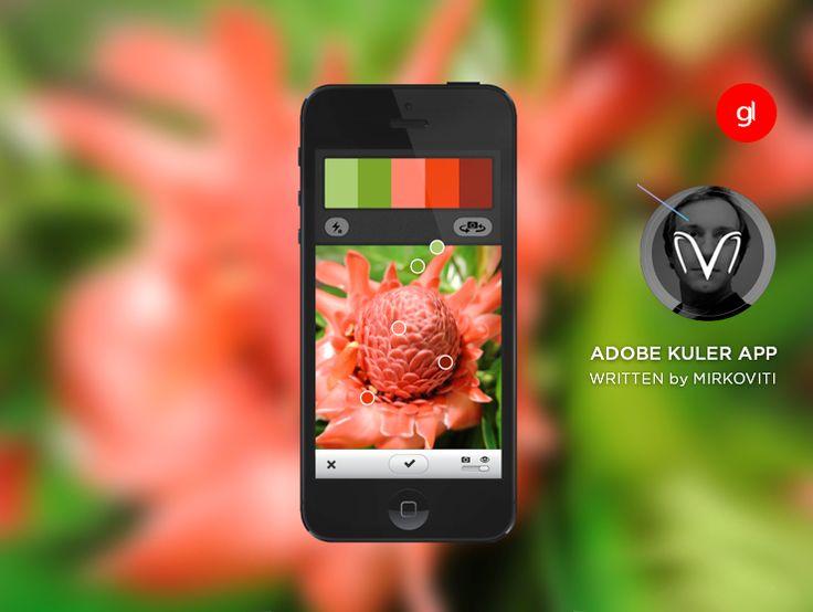 Adobe ® Kuler permette di catturare il colore ovunque si trovi. Da un murale, giardino, o ovunque ti capita di essere con uno scatto della fotocamera iPhone. Sfoglia, crea e personalizza i temi per i tuoi disegni, tutto sul tuo cellulare.