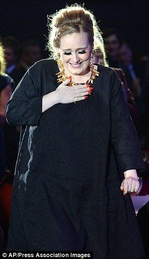 Change in style: Adele, right in September 2011 on the Jonathan Ross show, and left at the Ivor Novellos in May