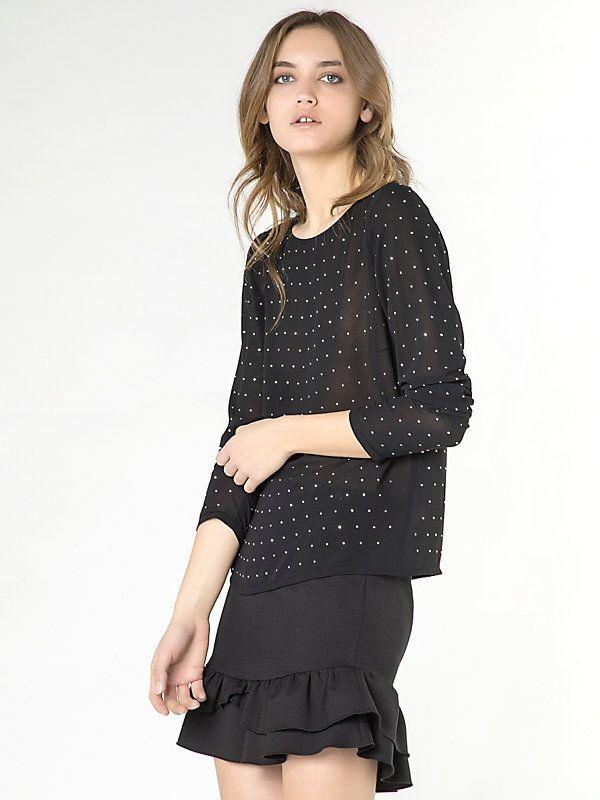 Tunic shirt in flowing fabric K103 1
