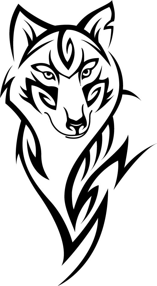 River Vinyls ***find us on Facebook and eBay*** - Tribal Wolf wall vinyl sticker
