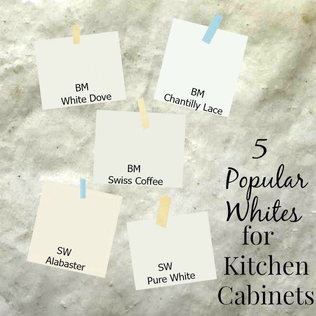 5 popular white paint colors used for kitchen cabinets. Tips on picking one that's right for your kitchen. chatfieldcourt.com