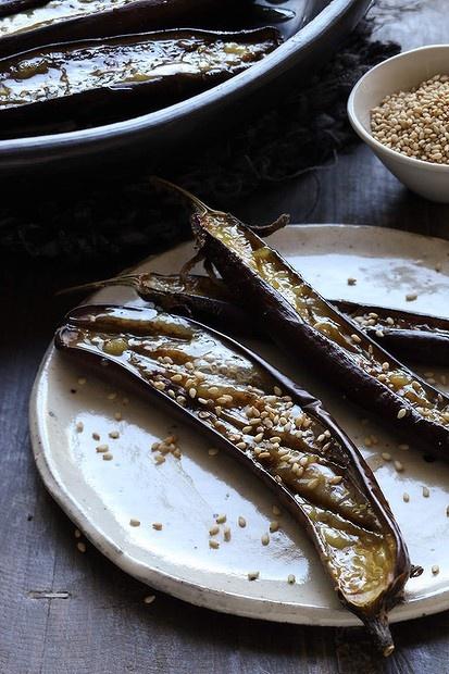 How to cook with Asian condiments - Miso. Caroline Velik's baked eggplant with miso. Photo: Marina Oliphant