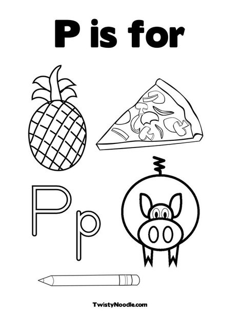 37 best letters images on pinterest mini books noodle for Letter p coloring pages