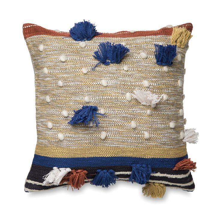 Dayo Cushion Cover w/Tassels | Citta Design $84.90