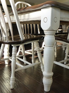 Should do this to the coffee table, dining set and hutch... Would make them look much more our style!