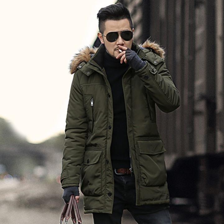 cd9f039d3b2f4 2018 Winter Jacket green woolen - Men s Store