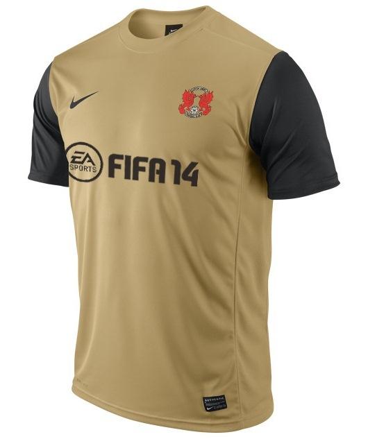 Leyton Orient Gold/Black Nike Away Shirt 2013/14