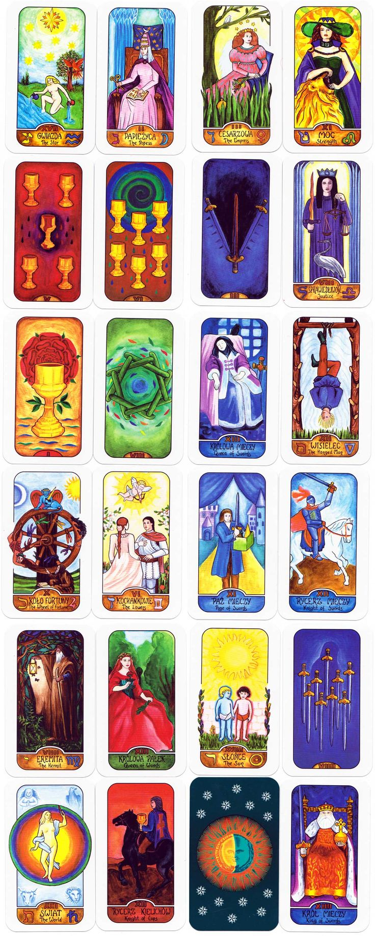how many tarot cards are in a pack