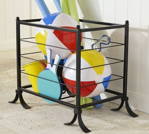 Pool Toy Storage Ideas find this pin and more on pool time helps and ideas pool organization toys storage Bronze Pool Accessory Storage Bin Pottery Barn