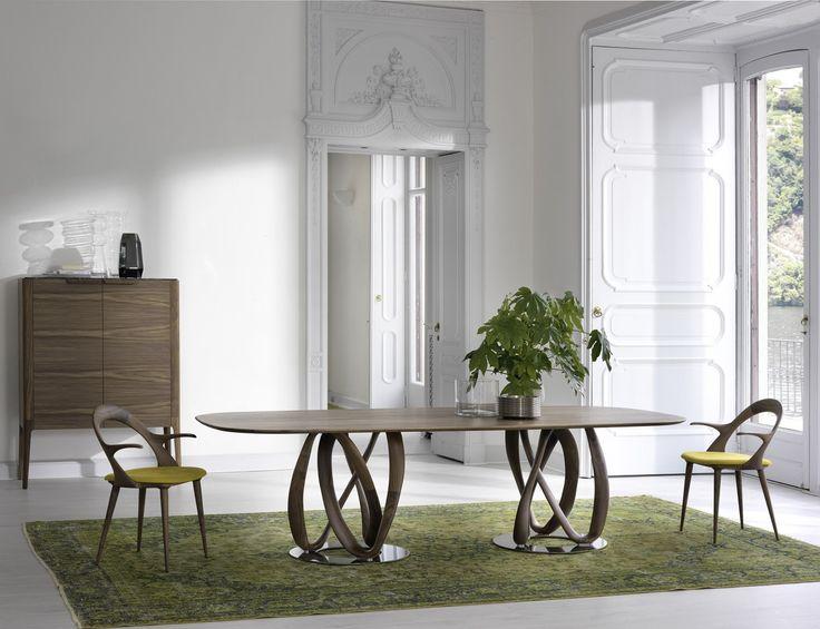Infinity ovale 2 basi, tavolo di Porada | lartdevivre - arredamento online